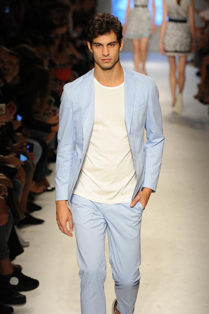 Suit uomo color celeste cielo, Massimo Rebecchi 2015