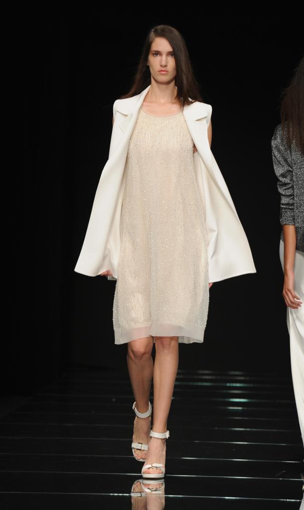 Vestito corto morbido bianco / Anteprima ss 2015