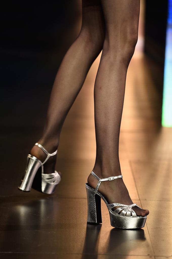 Dettaglio sandali silver / Saint Laurent ss 2015