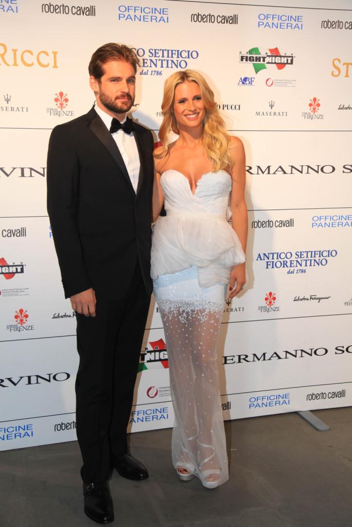 Michelle Hunziker, che ha presentato l'evento, insieme con il compagno Tomaso Trussardi
