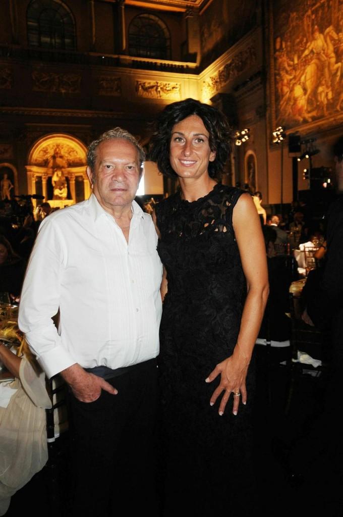 Lo stilista Ermanno Scervino insieme ad Agnese Renzi, moglie del Presidente del Consiglio