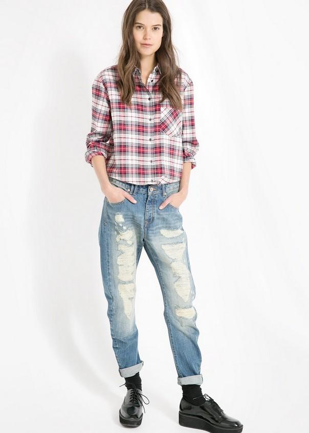 Boyfriend jeans, di Mango; must have per l'autunno-inverno 2014-15