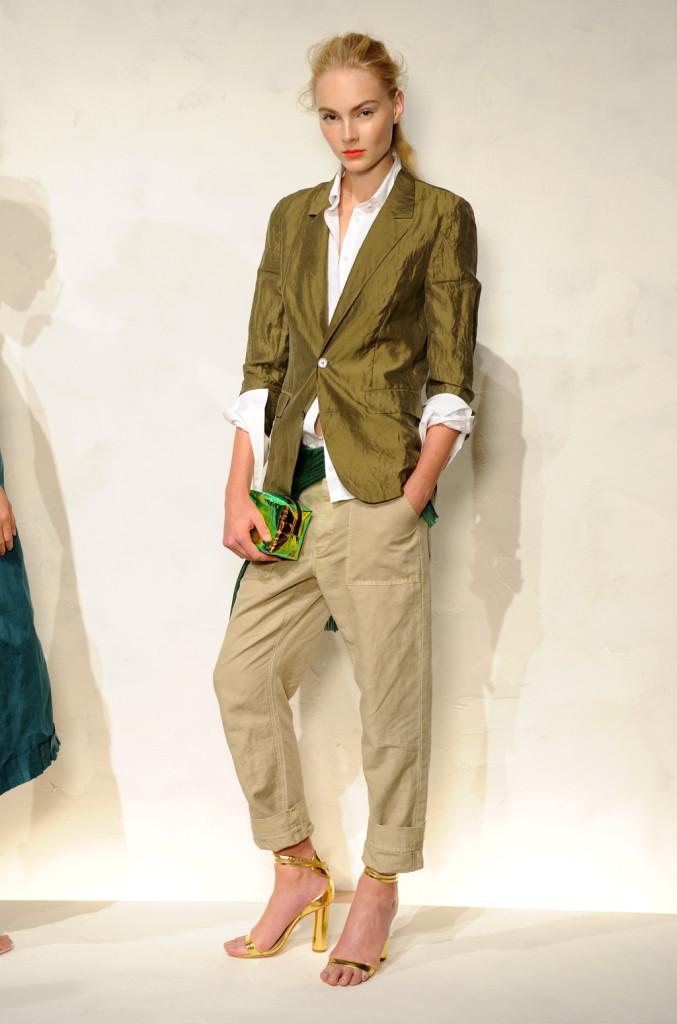 J. Crew, chino color cachi e giacca in lino