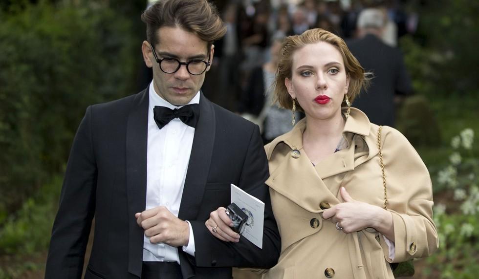 L'attrice con il giornalista francese