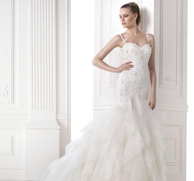 Linea Dreams, modello Milenka di Pronovias. Per spose dall'animo romantico.