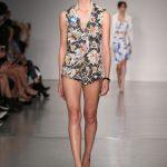 Gilet e shorts floreali