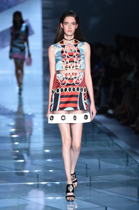 Mini dress a trapezio, multicolor