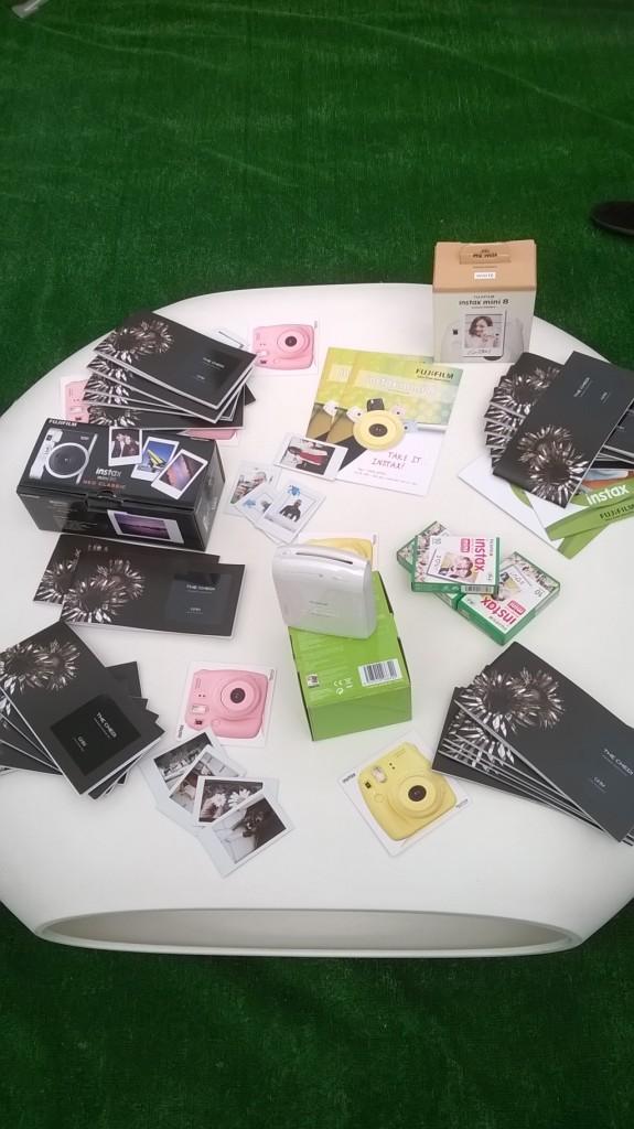 I prodotti Instax in mostra alla premiazione