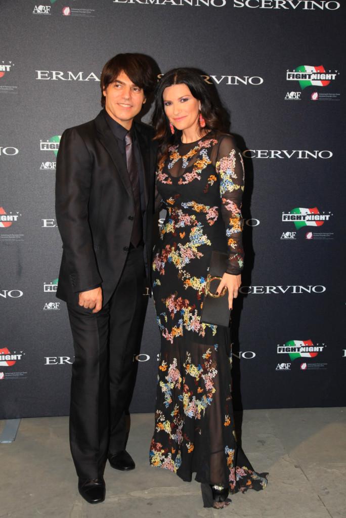 Laura Pausini e Marco Carta ospiti al party di beneficenza di Ermanno Scervino