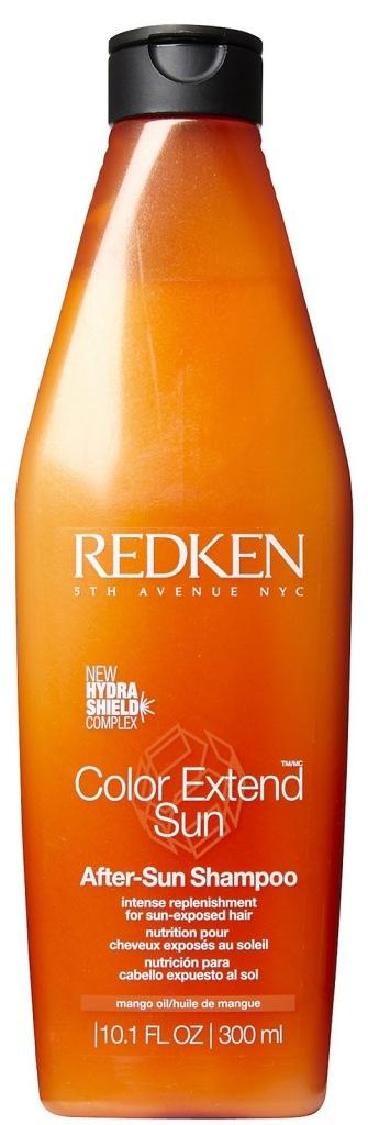 Il pigmento che rende i capelli rossi è particolarmente fotosensibile, per mantere il colore dunque si può ricorrere a prodotti con un fattore di protezione dai raggi UV, come Redken Color Extend After-Sun Shampoo...
