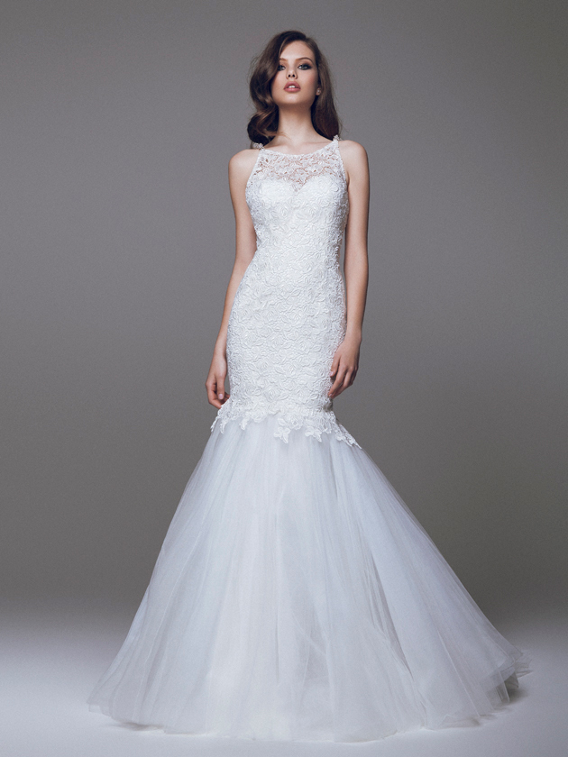 Esempi di abito da sposa a sirena della linea bridal Blumarine