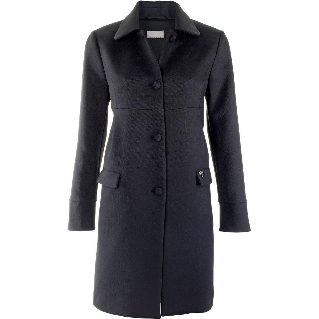 Cappotto elegante Nero Giardini con una sola abbottonatura