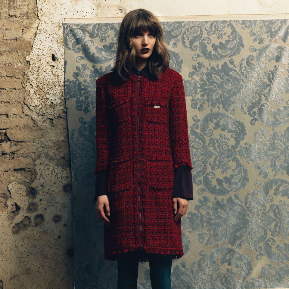 Fornarina proposte autunno inverno 2014 2015 cappotto rosso