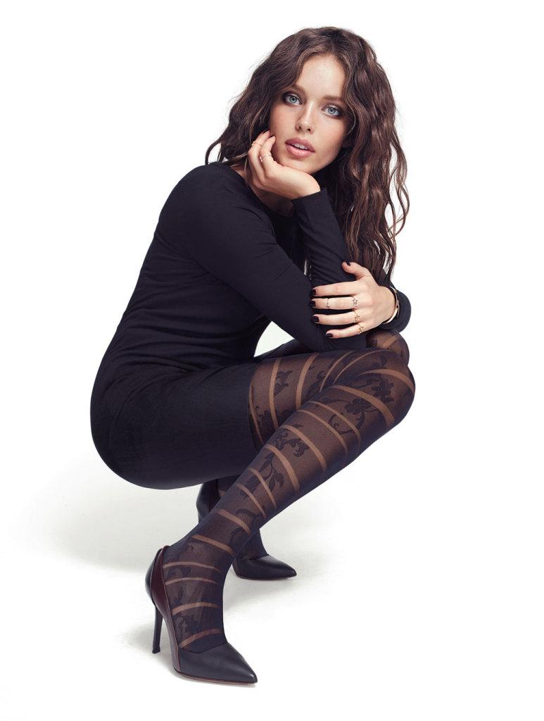 Tutte le calze Calzedonia: capi femminili effetto parigina, collant con decori e punti luce, proposte animalier con fantasie zebrate e leopardate,  collant con cuori, pois, fiocchi, gatti