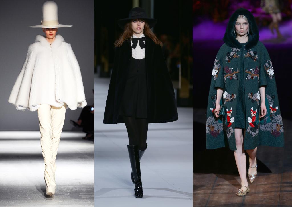Gareth Pugh, Saint Laurent e Dolce & Gabbana hanno firmato alcune delle proposte più belle in tema di poncho e mantelle
