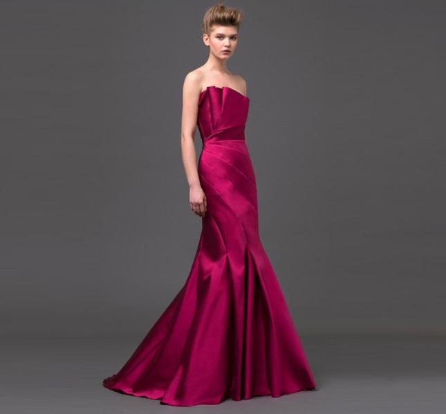 la sposa di Alberta Ferretti è colorata! Qui un modello della collezione 2015.