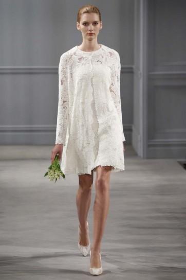 Abito sposa corto firmato Monique-Lhuillier-collezione-primavera-estate-2014-