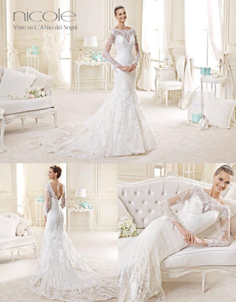 Nicole Spose 2015, gli abiti da sposa modello sirena