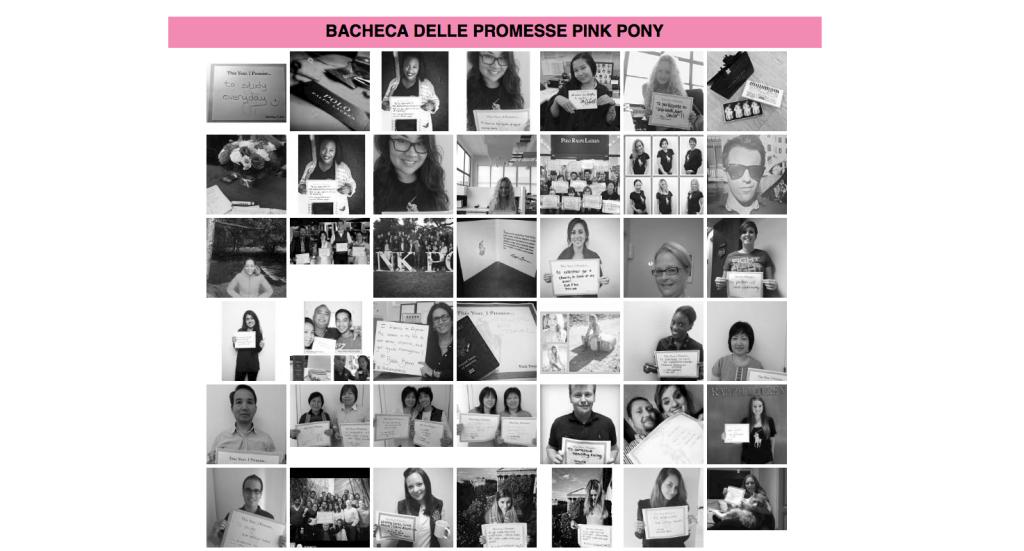 Scarica il cartello, scrivi la tua promessa e pubblicala con l'hashtag #PinkPonyPromise