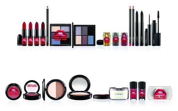 La collezione The Rocky Horror Picture Show by MAC Cosmetics comprende 14 prodotti, dal primer ai glitter