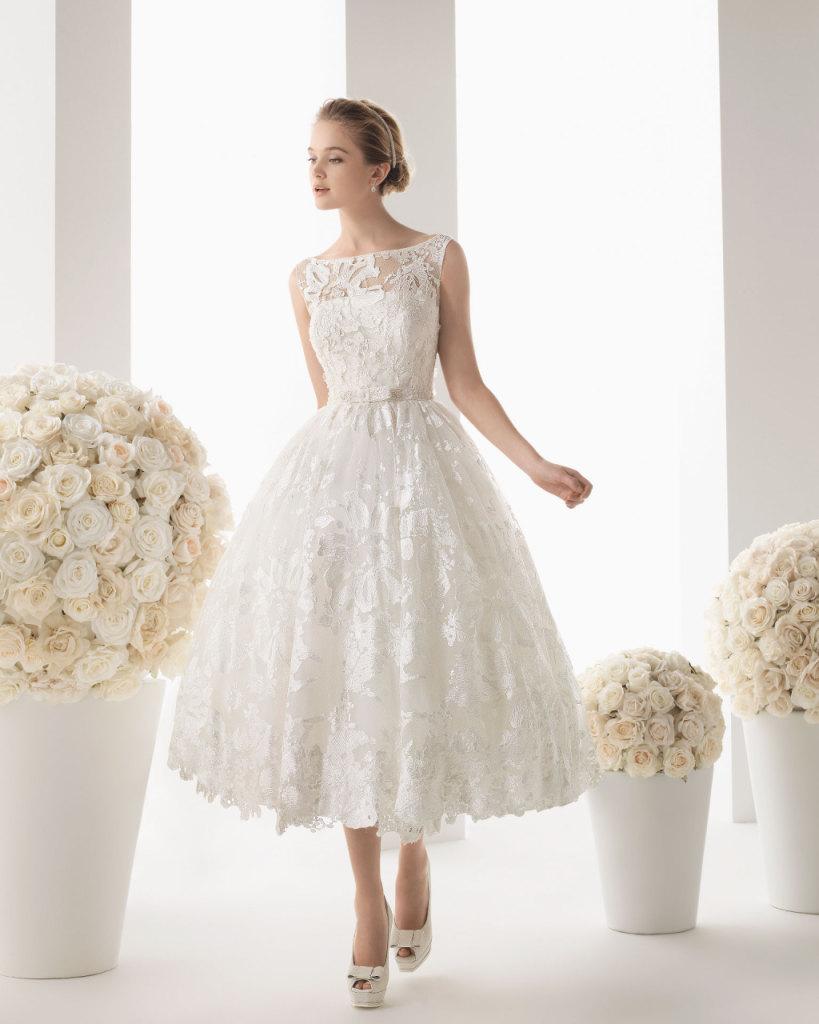 Abito da Sposa di Kate Moss retrò style firmato John Galliano  Modello  stile vintage Malta della Collezione 2014 del brand spagnolo Rosa Clarà ... e1d05f2e4a4