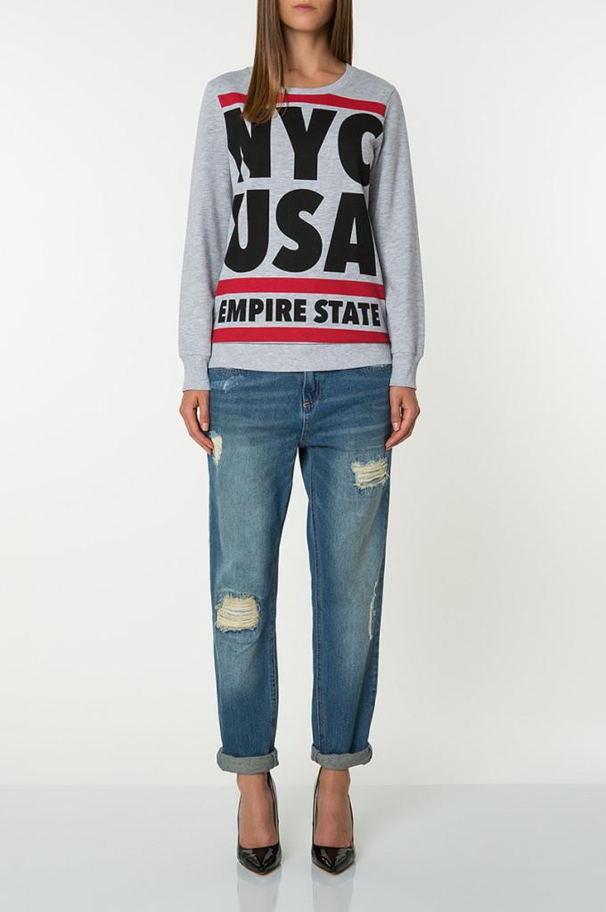 Jeans strappati dal taglio regular_Boyfriend