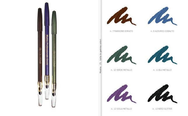 La matita professionale Collistar nella nuance n. 8 Azzurro Cobalto è ideale per disegnare il contorno occhi