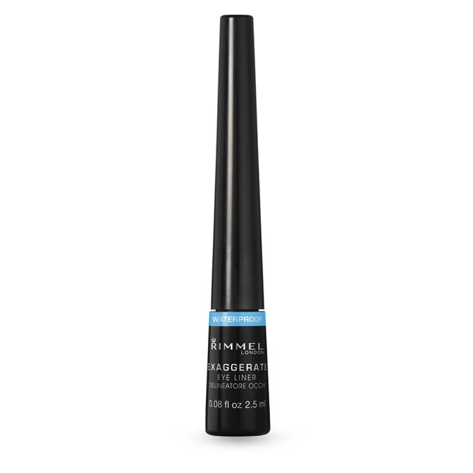 Rimmel Exaggerate Waterproof Liquid Eye Liner ha un tratto intenso e un colore ricco