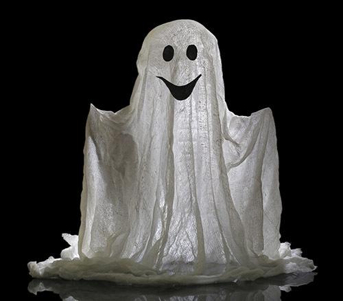 Vuoi un fantasma divertente e originale? Utilizza delle piccole luci e illumina di paura!