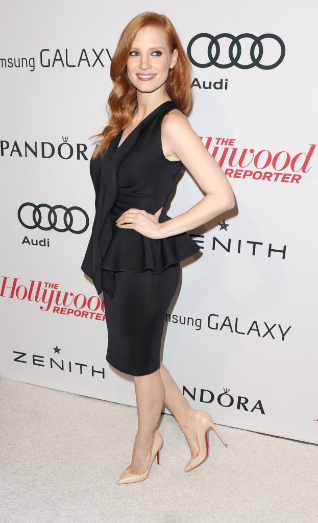 Loubuotin in versione nude per la favolosa Jessica Chastain