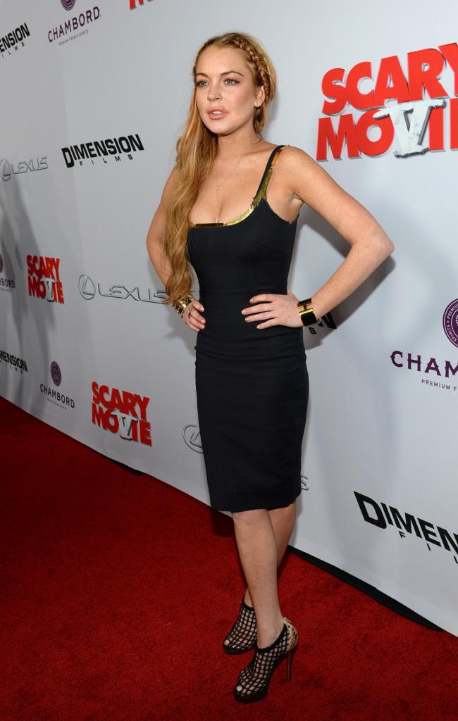 Sarà una enfant terrible, ma certo sa scegliere gli accessori: Lindsay Lohan in Louboutin