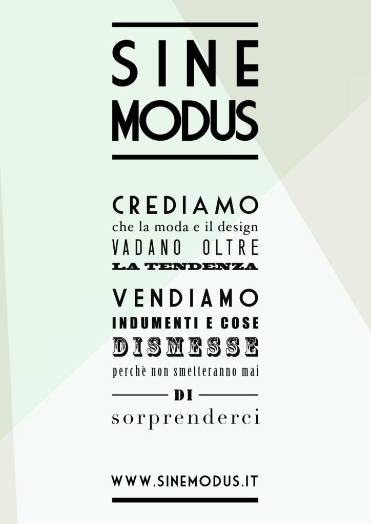 Sine Modus: un vero e proprio manifesto.