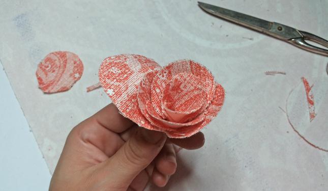 rosa di stoffa 6