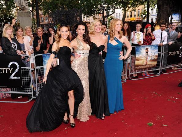 Sarah Jessica Parker, Kristin Davis, Kim Cattrall and Cynthia Nixon alla premiere inglese di Sex and The City 2