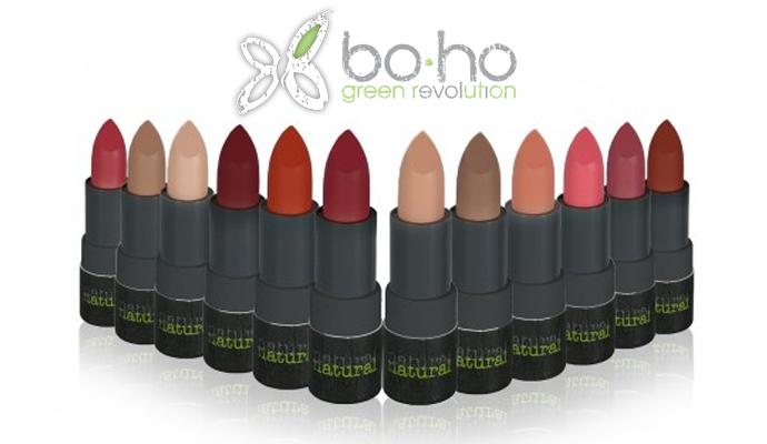 Rossetti biologici Bo-Ho Cosmetics_Rouge à leuvres mat couvrant. Un rossetto totalmente naturale e dalla coerenza sorprendente