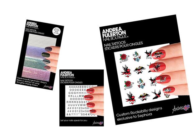 Andrea Fulerton_Nail Gossip Tattoos Stickers_Questi adesivi permettono di realizzare istantaneamente delle vere e proprie opere d'arte sulle unghie.