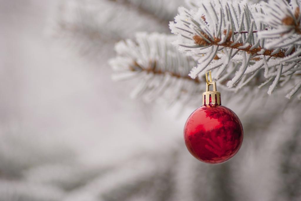 Palline di Natale rosse e bianche