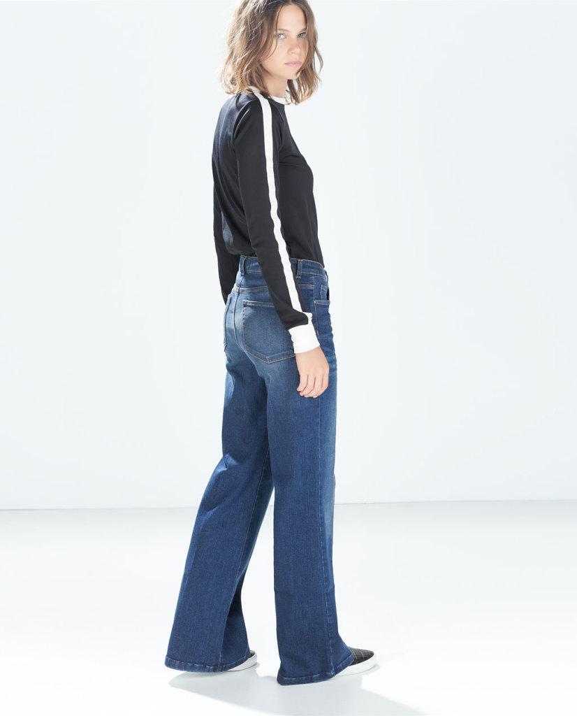 Non solo flare: la moda FW 2014/15 vuole anche i modelli wide leg, come questa proposta Zara