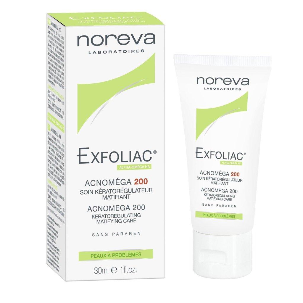 NOREVA Exfoliac Acnomega 200 aiuta ad assorbire i farmaci anti acne a livello epidermico