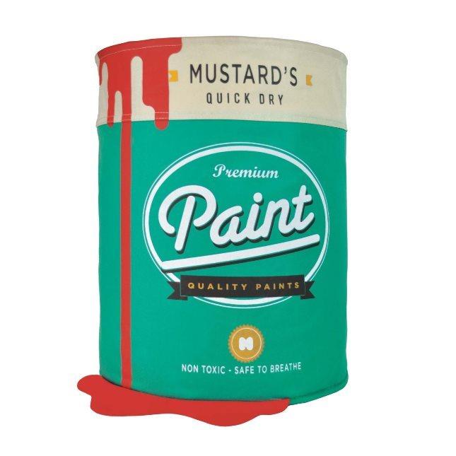 Cesto porta biancheria morbido a forma di latta di vernice - Mustard - su Amazon a 20.90 Euro