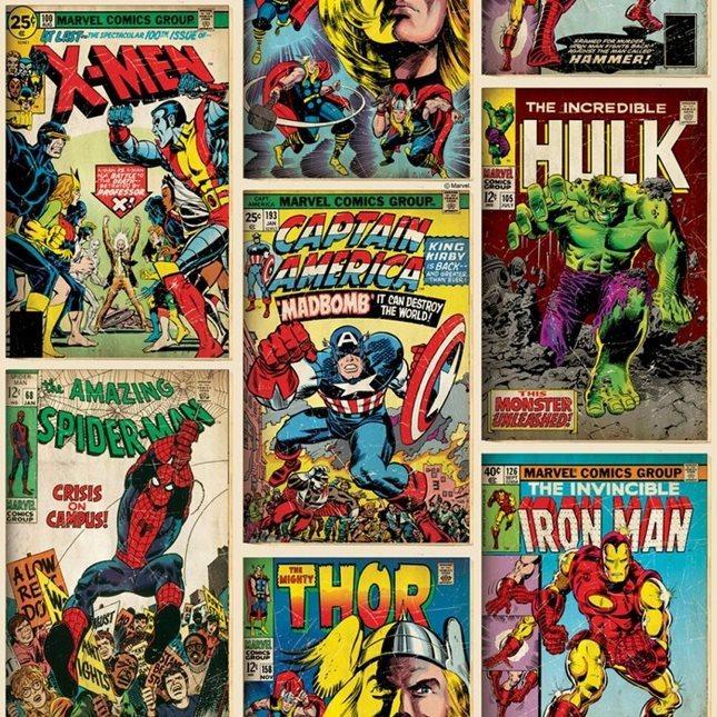 Carta da parati con personaggi della Marvel - su Amazon a 28.92 euro