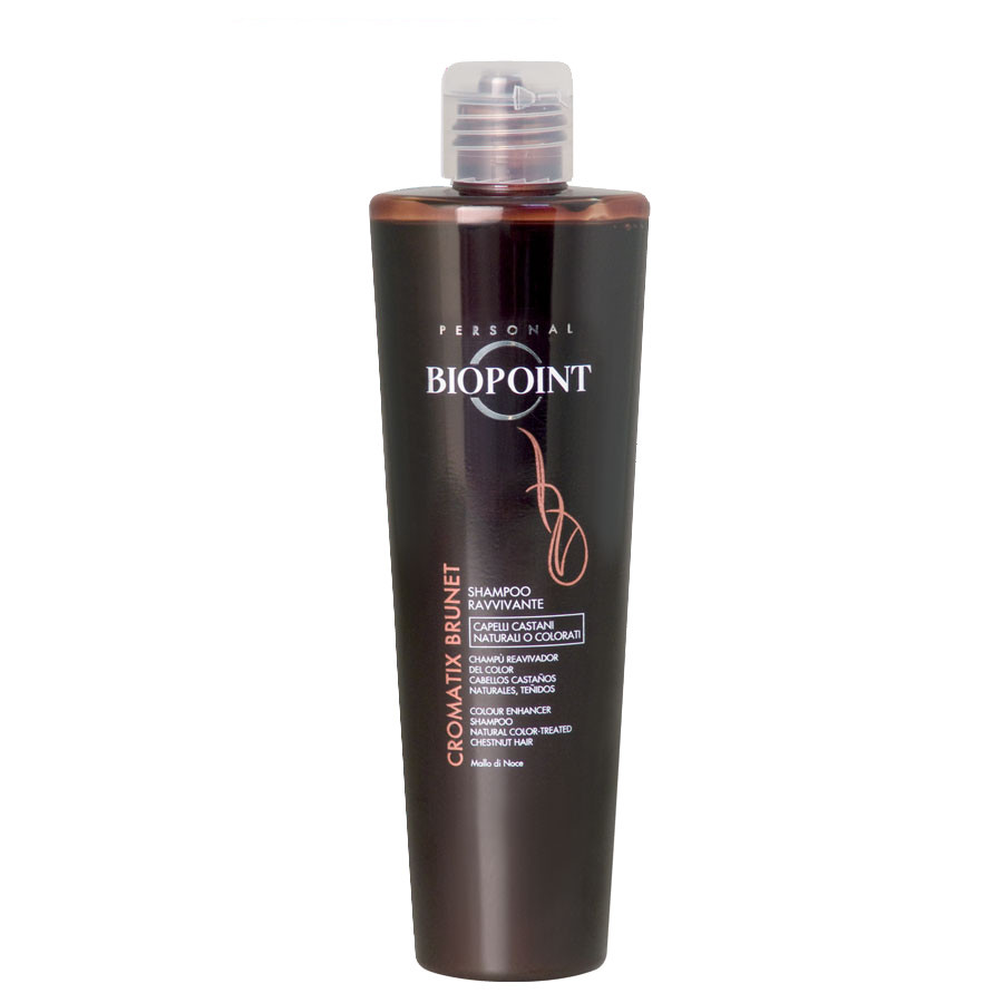 Biopoint Cromatix Shampoo Ravvivante Brunet è ideale per ravvivare il colore dei capelli neri
