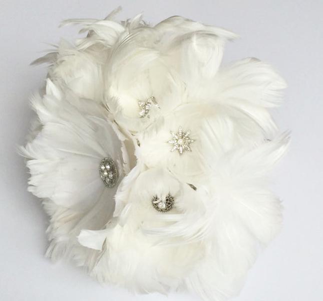 Leggero e originale il bouquet di Florio Design, via Esty.