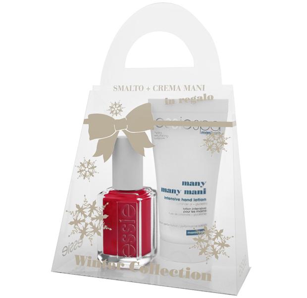 Il winter kit coposto da uno smalto e una crema mani , in una simpatica confezione natalizia. Prezzo  circa 12, 00 euro.