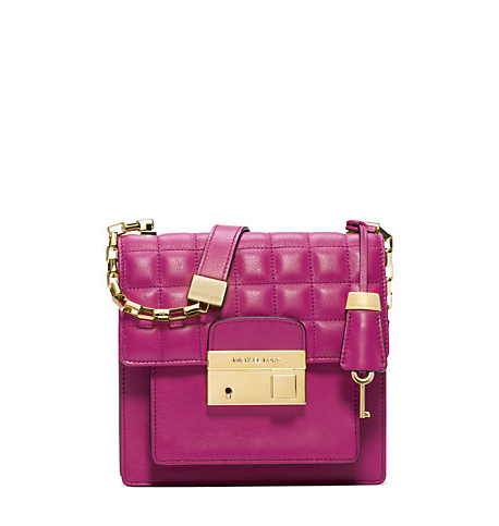 Gia Quilted Leather Small Crossbody Michael Kors
