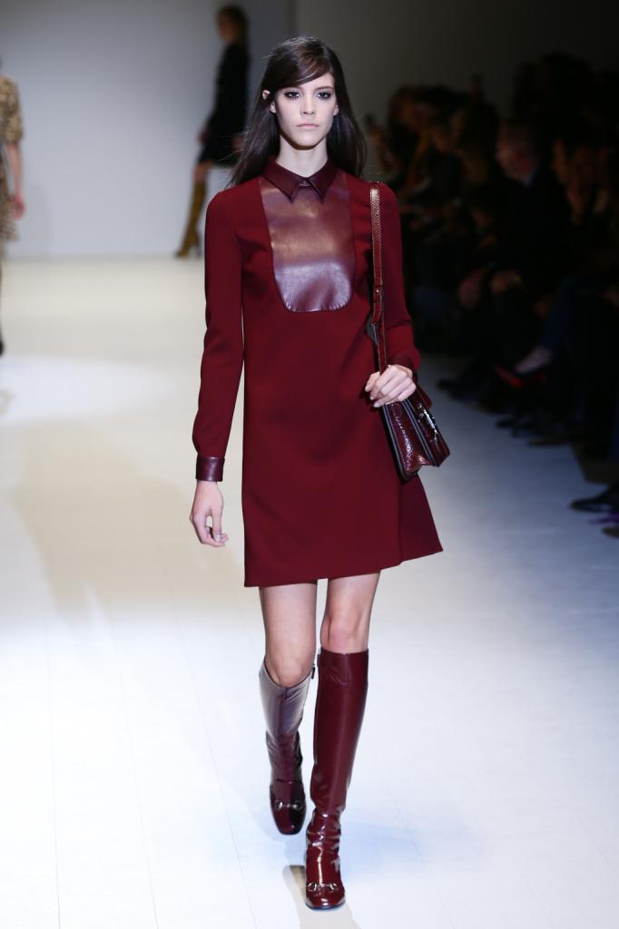 Il bordeaux nelle proposte autunno inverno 2014 2015 di Gucci
