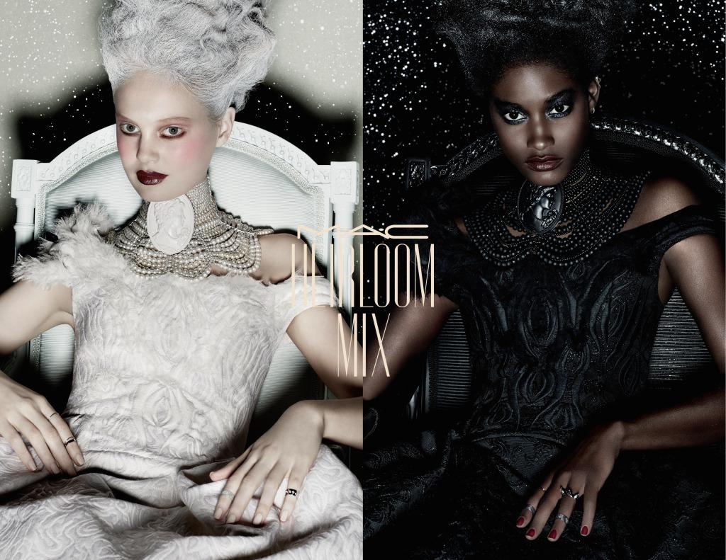 Bianca come la neve o nera come la notte: la donna regina di Heirloom Mix brilla del bagliore di mille glitter
