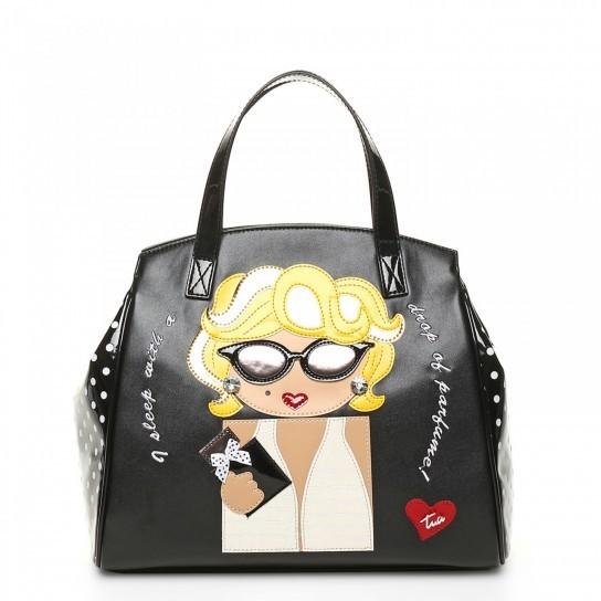 Handbag con stampa colorata