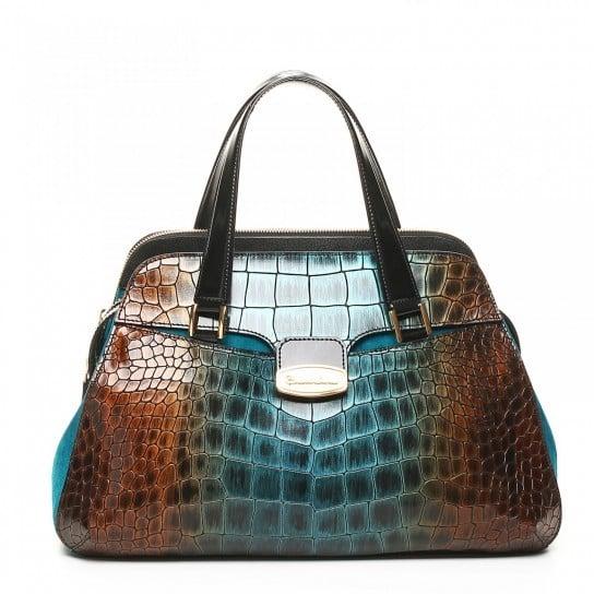 Handbag con stampa rettile