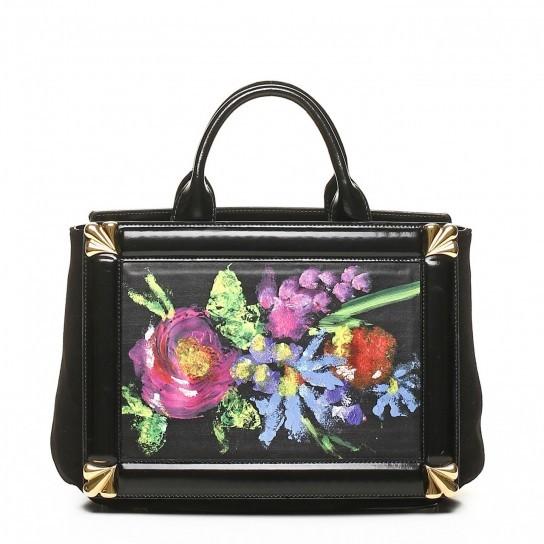 Handbag in pelle